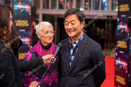 """Stock Photo of Kelly Park and Stephen Park attend the UK Premiere and Headline Gala of Searchlight Picture's """"The French Dispatch"""" at The Royal Festival Hall on October 10, 2021 in London, England"""