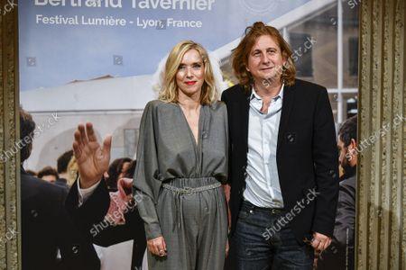 Stock Image of Lea Drucker and Julien Rambaldi