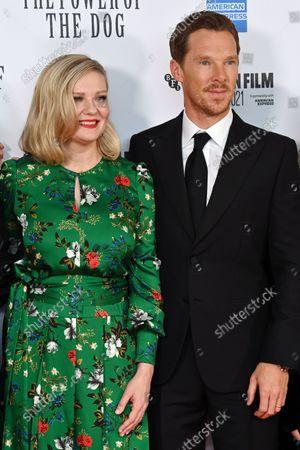 Stock Picture of Kirsten Dunst and Benedict Cumberbatch