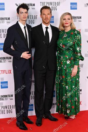 Kodi Smit-McPhee, Benedict Cumberbatch and Kirsten Dunst