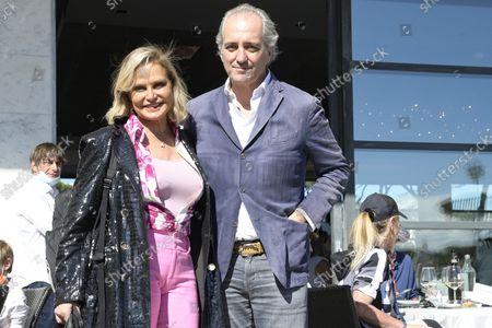 Simona Ventura and Giovanni Terzi
