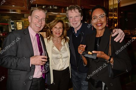 Andrew Pierce, Bill Collins and Hazel Collins at the J Sheekey restaurant