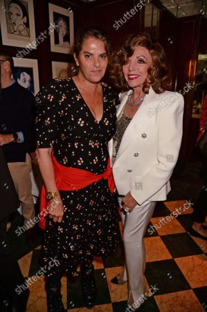 Tracey Emin and Dame Joan Collins at the J Sheekey restaurant