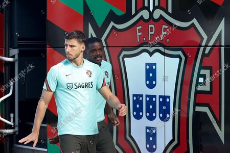 Portuguese national soccer player Ruben Dias arrives before a training session in Almancil, Faro, South of Portugal, 10 October  2021. Portugal will face Luxembourg in their FIFA World Cup Qatar 2022 qualifying group A soccer match on 12 October 2021 in Faro.