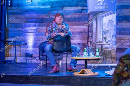 Steven Van Zandt giving a talk about his life at the Lighthouse Auditorium in Ely,Cambridgeshire as part of his book tour promoting his new autobiography called Unrequited Infatuations.
