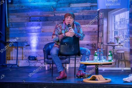 Stock Photo of Steven Van Zandt giving a talk about his life at the Lighthouse Auditorium in Ely,Cambridgeshire as part of his book tour promoting his new autobiography called Unrequited Infatuations.