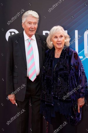Timothy Carlton and Wanda Ventham pose for photographers upon arrival at the premiere of the film 'The Power Of The Dog' during the 2021 BFI London Film Festival in London