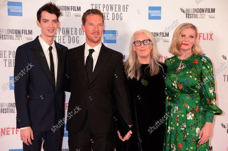 Kodi Smit-McPhee, Benedict Cumberbatch, Jane Campion and Kirsten Dunst