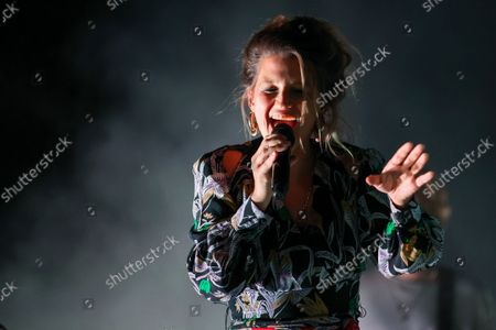 """Belgian singer-songwriter Selah Sue performs on stage during the 30th edition of the """"Fiesta des Suds"""" music festival in Marseille. Selah Sue has won the Best Female Solo Artist award five times at the Music Industry Awards."""