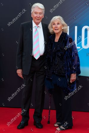"""Timothy Carlton and Wanda Ventham attend """"The Power of the Dog"""" UK Premiere during the 65th BFI (British Film Institute) London Film Festival at The Royal Festival Hall."""