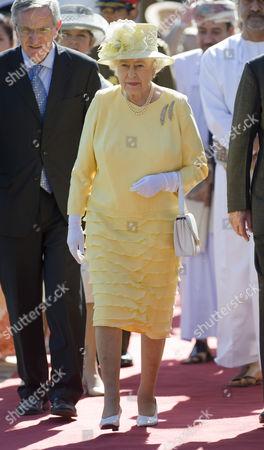 Stock Photo of The British Ambassador Noel Guckian and Queen Elizabeth II