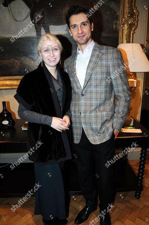 Stock Photo of Anna Abramovich and Fiance Nikolai Lazarev