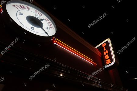 Stock Picture of Neon sign hangs over the Diner on Phillips late, in Sioux Falls, S.D