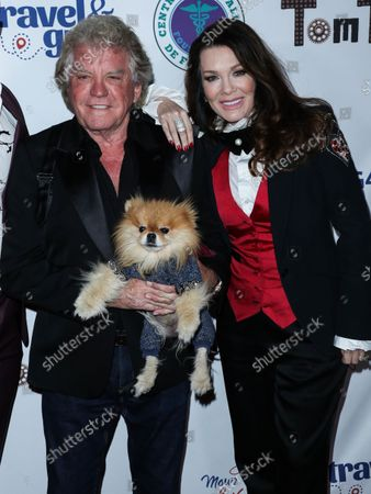 Restaurateur Ken Todd and wife/restaurateur Lisa Vanderpump-Todd arrive at Travel and GIVE's 4th Annual 'Travel With A Purpose' Fundraiser (Fundraiser to Benefit Teletherapy Program and Communities in Haiti Affected by Earthquake) held at TOM TOM Restaurant and Bar on October 11, 2021 in West Hollywood, Los Angeles, California, United States.