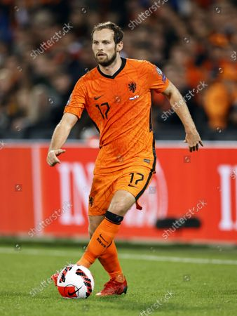 Daley Blind of Netherlands during the World Cup qualifier match between the Netherlands and Gibraltar at Feyenoord Stadium de Kuip on October 11, 2021 in Rotterdam, Netherlands.