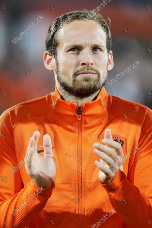 portrait of Daley Blind of Netherlands during the World Cup qualifier match between the Netherlands and Gibraltar at Feyenoord Stadium de Kuip on October 11, 2021 in Rotterdam, Netherlands.