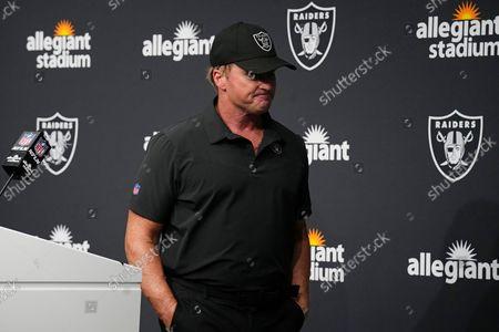 Editorial image of Raiders Gruden Football, Las Vegas, United States - 10 Oct 2021