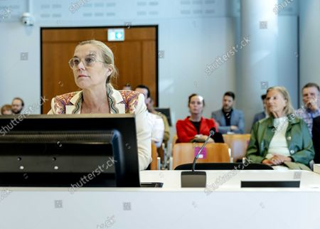 D66 leader Sigrid Kaag prior to the trial in which a man is on trial as he is suspected of having threatened her and outgoing minister Hugo de Jonge with death in the Hague, Netherlands, 12 October 2021.