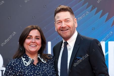 Kenneth Branagh (R) and his wife Lindsay Brunnock attend the European premiere of 'Belfast' during the BFI London Film Festival at the Royal Festival Hall in London, Britain, 12 October 2021. The British Film Institute festival runs from 06 to 17 October.