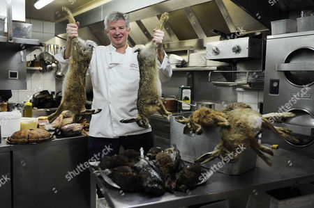 Editorial picture of French Chef, Rodolphe Paquin in his restaurant 'Le repaire de Cartouche,' Paris, France - 25 Nov 2010
