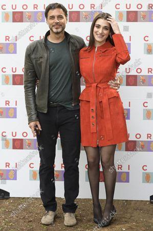 Stock Photo of Daniele Pecci and Pilar Fogliati