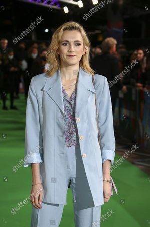 Charlotte Ritchie poses for photographers upon arrival at the premiere of the film 'The Phantom of the Open' during the 2021 BFI London Film Festival in London