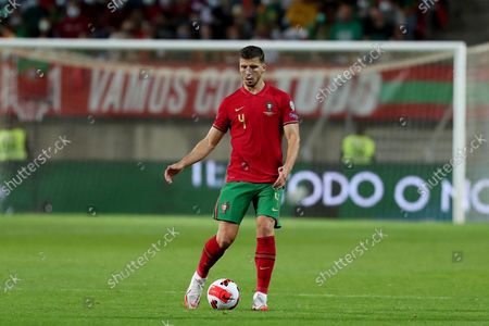 Portugal's defender Ruben Dias in action during the FIFA World Cup Qatar 2022 qualification group A football match between Portugal and Luxembourg, at the Algarve stadium in Faro, Portugal, on October 12, 2021.
