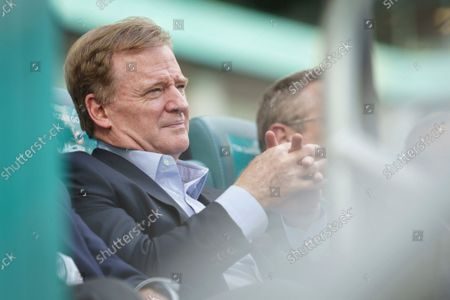 Commissioner Roger Goodell during the Celebration of Life ceremony for former Miami Dolphins football head coach Don Shula on at Hard Rock Stadium in Miami Gardens, Fla