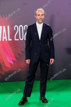 Stock Image of Tim Steed attends the UK premiere of 'The Phantom of the Open' during the BFI London Film Festival at the Royal Festival Hall in London, Britain, 12 October 2021. The British Film Institute festival runs from 06 to 17 October.