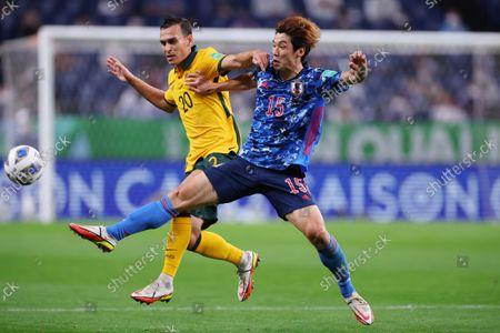 Editorial image of FIFA World Cup Qatar 2022 - Asian Qualifier Final Round Group A : Japan 2-1 Australia, Saitama, Japan - 12 Oct 2021