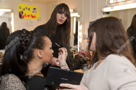 Stock Picture of Rebecca Ferguson with make-up artist Liz Martins