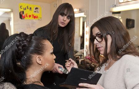 Stock Image of Rebecca Ferguson with make-up artist Liz Martins