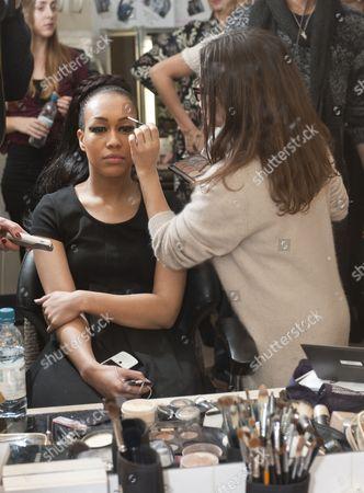 Rebecca Ferguson with make-up artist Liz Martins