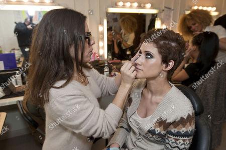 Katie Waissel with make-up artist Liz Martins