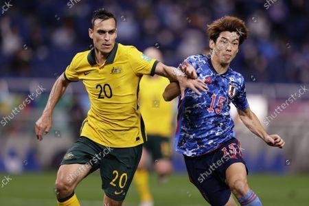 Editorial picture of FIFA World Cup Qatar 2022 - Asian Qualifier Final Round Group A : Japan 2-1 Australia, Saitama, Japan - 12 Oct 2021
