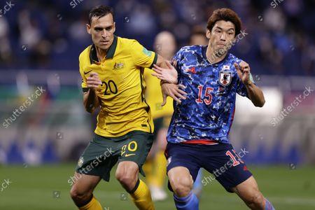 Trent Sainsbury (AUS), Yuya Osako (JPN) - Football / Soccer : FIFA World Cup Qatar 2022 Asian Qualifier Final Round Group A match between Japan - Australia at Saitama Stadium 2002, Saitama, Japan.