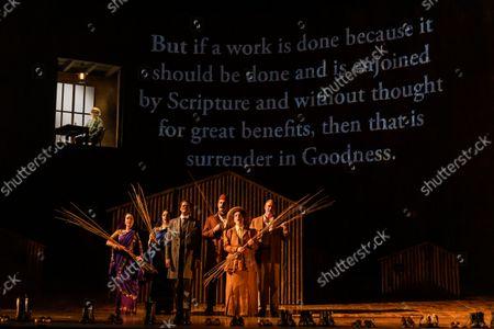 Editorial image of Satyagraha, English National Opera, London Coliseum, London, UK - 12 Oct 2021