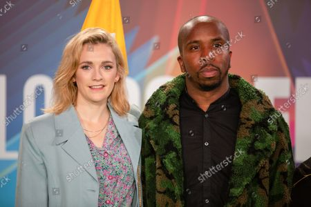 (L-R) Charlotte Ritchie and Kiell Smith-Bynoe