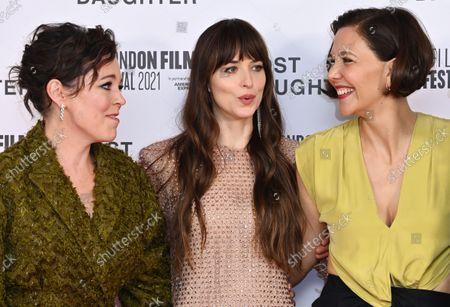 Olivia Colman, Dakota Johnson and Maggie Gyllenhaal