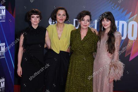 Jessie Buckley, Maggie Gyllenhaal, Olivia Colman and Dakota Johnson