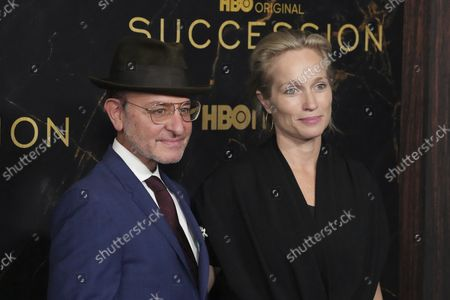 """Fisher Stevens and Alexis Bloom attend HBO's """"Succession"""" season 3 premiere at the American Museum of Natural History, in New York"""
