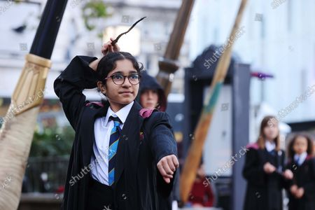 Editorial image of Wizarding World wands unveiled in Leicester Square, London, UK - 13 Oct 2021