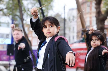 Editorial photo of Wizarding World wands unveiled in Leicester Square, London, UK - 13 Oct 2021