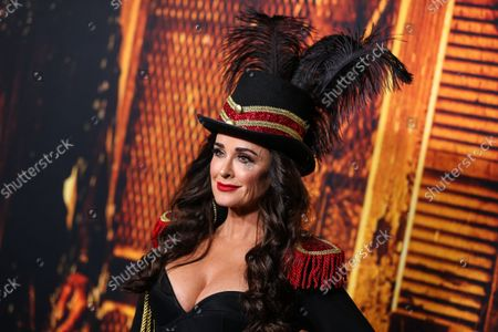 Actress/television personality Kyle Richards arrives at the Costume Party Premiere Of Universal Pictures' 'Halloween Kills' held at the TCL Chinese Theatre IMAX on October 12, 2021 in Hollywood, Los Angeles, California, United States.