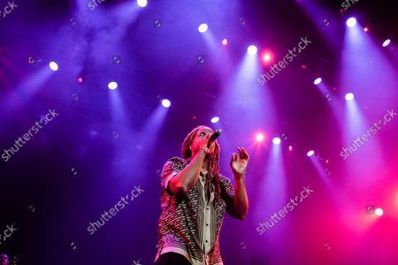 Yotuel Romero performs at the 2021 Hispanidad Concert held on October 12, 2021, at the Wizink Center, Madrid, Spain, organized by the Instituo del Espanol de la Comunidad de Madrid.