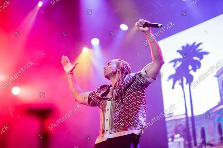 Editorial image of Yotuel Romero Performs At The 2021 Hispanidad Concert, Madrid, Spain - 12 Oct 2021