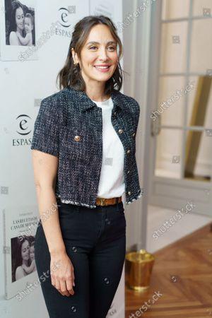 Tamara Falco in the presentation of her book 'Las recetas de casa de mi madre' on October 13, 2021, in Madrid, Spain.