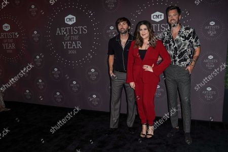 Stock Picture of Lady A - Dave Haywood, Hillary Scott, Charles Kelley