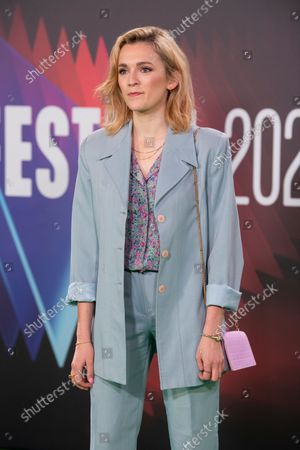 """Charlotte Ritchie attends the World Premiere of """"The Phantom Of The Open"""" during the 65th London Film Festival at The Royal Festival Hall in London."""