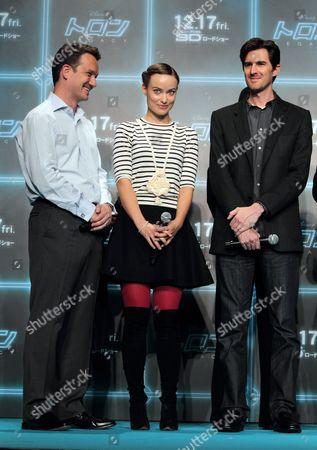 Stock Image of Producer Sean Bailey, Olivia Wilde and Director Joseph Korinski
